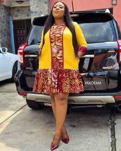 Short African Dresses, Latest African Fashion Dresses, African Print Fashion, African American Fashion, Ankara Fashion, Fashion Prints, Short Dresses, Casual Gowns, African Attire