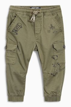Khaki Cargo Trousers (3mths-6yrs) Baby Pants, Kids Pants, Kids Fashion Boy, Toddler Fashion, Baby Boy Outfits, Kids Outfits, Boys Joggers, Baby Kind, Baby Sewing