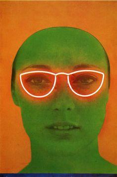 juju-be-art:  Martial Raysse, La France verte,  1964, Photo et néon, 153 x 102cm
