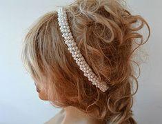 Wedding Headband Pearl Headband Bridal Headband  by ADbrdal