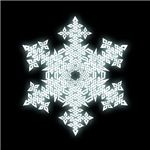 One of my most fun, this Celtic knot snowflake is all white with a slight blue glow, making it really nice on darker backgrounds. Designed by Stefan Coleman