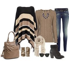 Winter Outfit in neutrals. Over 40 Fashion :)