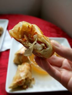 The Nifty Cupcake: Baked Shrimp Egg Rolls
