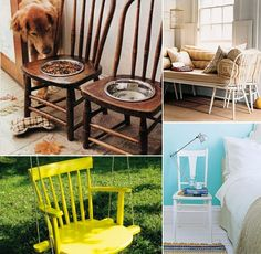 Check out these creative ways to reuse and recycle old chairs! #ReStore #DIY