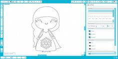 Kids Printable Coloring Book made with the Silhouette #tutorial
