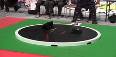 The robotic versions of competitive sports are usually disappointing at best—but not when it comes to Sumo Wrestling. The human titans who try to slowly push each other out of a circular ring are actually far less exciting than these tiny zippy robots whose matches are usually over almost as quickly as they begin.