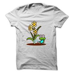 frog watering flower T-Shirts, Hoodies. GET IT ==► https://www.sunfrog.com/Holidays/frog-watering-flower-43325541-Guys.html?id=41382
