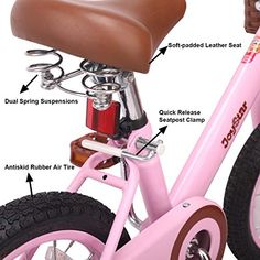 JOYSTAR 16 Inch Kids Bike with Training Wheels #bikes #bicycleaccessories #bikeparts #mtb #velo #sport #cyclinggear #bmx #cruiserbikes #exercisebike 16 Inch Kids Bike, Best Kids Bike, Bike With Training Wheels, Kids Bicycle, Bike Seat, Bike Parts, Bicycle Accessories, Cycling Gear, Tricycle