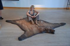 wooden, bear-skin rug''SUBSTITUTE'' by NAMEthisDESIGN on Etsy https://www.etsy.com/listing/79539002/wooden-bear-skin-rugsubstitute
