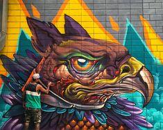 Bruno Smoky Polygon Art, Spiderman, Street Art, Superhero, Graffiti, Fictional Characters, Facebook, Spider Man, Fantasy Characters