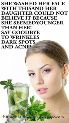 SHE WASHED HER FACE WITH THIS AND HER DAUGHTER COULD NOT BELIEVE IT, BECAUSE SHE SEEMED YOUNGER THAN HER! SAY GOODBYE TO WRINKLES, DARK SPOTS AND ACNE!