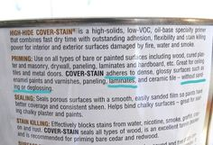 zinsser's prime and cover stain for LAMINATE. Also add an additive called Penetrol to condition the primer and minimize brush strokes.
