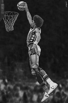 Dr. J. I wore those white and red Converse all-stars all through junior high.