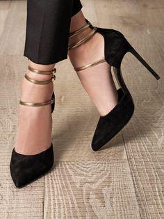 Paris triple strap shoes | Saint Laurent #shoes