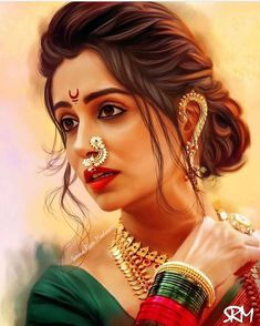 """""""She is clothed in strength and dignity, and she laughs without fear of the future. Indian Women Painting, Indian Art Paintings, Mother Art, India Art, Celebrity Drawings, Painted Ladies, Girl Photography Poses, Beauty Full Girl, Indian Beauty Saree"""