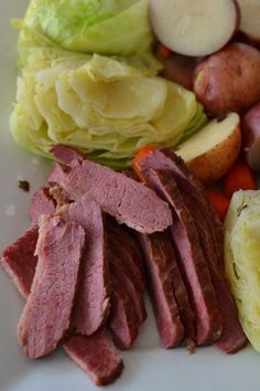 42662c9f8149 This delicious Easy Traditional Corned Beef and Cabbage is slow cooked with  pickling spice. The