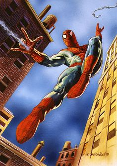 Done for Marvel Masterpieces 95 Spiderman Comic Book Characters, Comic Book Heroes, Marvel Characters, Comic Character, Comic Books Art, Comic Art, Epic Characters, Book Art, Character Design