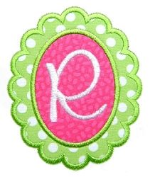 Scalloped Oval Font Frame Applique - 3 Sizes! | Featured Products | Machine Embroidery Designs | SWAKembroidery.com Garden of Daisies