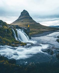 Exploring Kirkjufell in a yellow raincoat. What a combo! Amazing Photography, Landscape Photography, Nature Photography, Travel Photography, Photography Ideas, What A Wonderful World, Beautiful World, Beautiful Images, Iceland Air