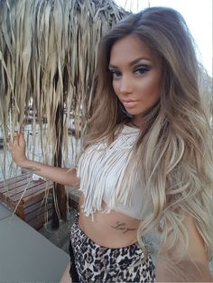 #hair #balayage #makeup #tropical #smokey