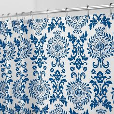 Invigorate your bathroom with a new decorative fabric shower curtain. 100% polyester design resists water absorption. Side and bottom hem help retain shape. 12 button holes for easy hanging. Measures 72 by 72 inches for standard showers. This timeless royal floral pattern will be the statement piece of your bath.
