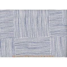 Upholstery / Curtain Fabric - Blue Blocks