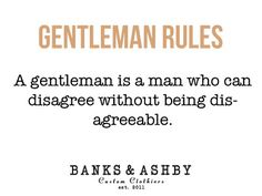Banks & Ashby Gentleman Rules