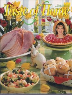 Taste of Home's Cooking Magazine Cookbook February March 2002 Easter Recipes #QuickCooking