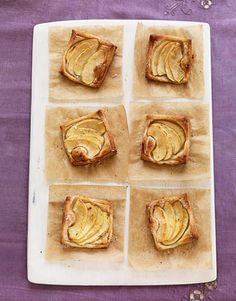 French Apple Tarts. Perfect for parties! #desserts