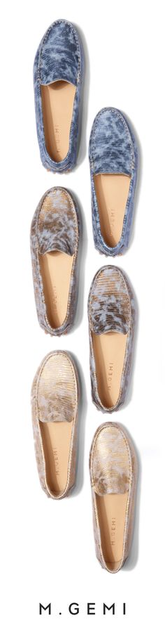 A splash of metallic and careful hand stitching take the  driving moccasin to a dreamy new place. Shop 'The Felize'.