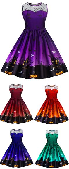 halloween dresses:Halloween Lace Panel Plus Size Dress