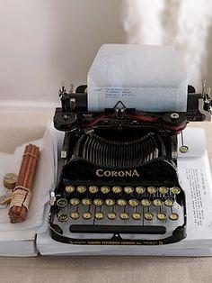 Corona typewriter from Sibella Court's book Etcetera