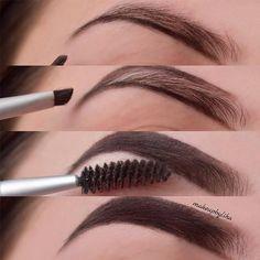 - Make up tipps - Maquillaje Eyebrow Makeup Tips, How To Do Makeup, Contour Makeup, Makeup Set, Skin Makeup, Makeup Inspo, Makeup Brushes, Makeup Looks, Makeup Eyebrows