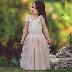 Tuilledress by Dollcake Vintage ❤ #dollcakevintage #flowergirldress #specialoccationdress #lightrosedress