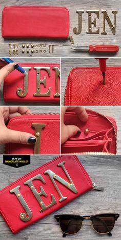 DIY nameplate wallet