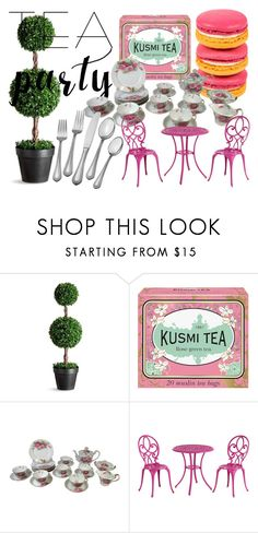 """""""Tea Party - Home Set"""" by freckled-gypsy on Polyvore featuring interior, interiors, interior design, home, home decor, interior decorating, Improvements, Emilio Pucci, Kusmi Tea and Pier 1 Imports"""