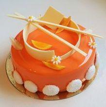 Fruit cake decoration orange 24 New Ideas Fancy Desserts, No Bake Desserts, Patisserie Fine, Orange Mousse, Orange Dessert, Decoration Patisserie, Cake Recipes, Dessert Recipes, Modern Cakes