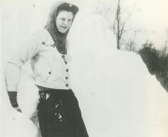 Sylvia, February 1947, at the Powley's country home in East Colrain, Massachusetts (Betsy Powley Wallingford