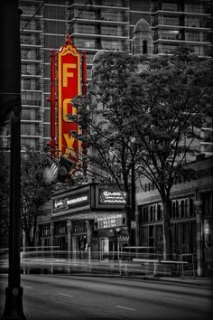 Fox Theater Atlanta Black and White and red sign Art Art Prints For Sale, Fine Art Prints, Vintage Photography, Art Photography, Atlanta Usa, East Coast Usa, Fabulous Fox, Red Sign, Thing 1