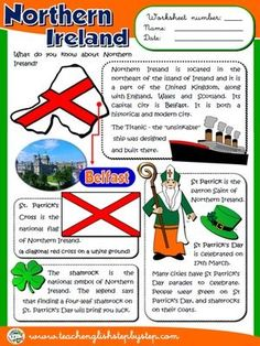Northern Ireland - Worksheet
