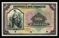 Reproduction Paraguay 1000 guarani 1952 UNC