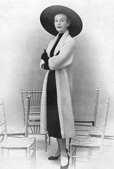 The Vintage Pattern Files: 1950's Knitting - Tuxedo Tube Coat