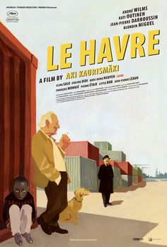 Nice design (by Manuele Fior) on this US poster for Le Havre