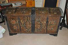 Museum-quality-Norwegian-rosemaled-chest-dated-1796-Norway-Scandinavian-folkart
