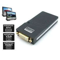 SainSonic UGA WS-UG19D1 USB 2.0 to VGA/DVI/HDMI Adapter for Multiple Monitors up to 2048x1152 / 1920 - http://kameras-kaufen.de/sainsonic/sainsonic-uga-ws-ug19d1-usb-2-0-to-vga-dvi-hdmi-for-up