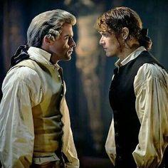 Jamie and the comte #outlander #season2