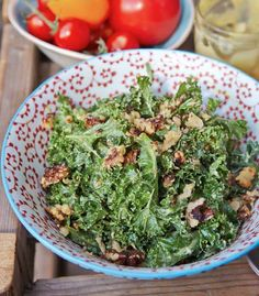 Kale Caesar Salad Clean Eating Diet, Eating Well, Healthy Eating, Kale Caesar Salad, Kale Salad, Healthy Salads, Healthy Foods, Healthy Recipes, Hemsley And Hemsley