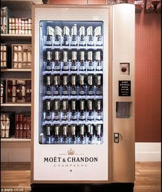 The Moet and Chandon dispenser is the first champagne vending machine in the world