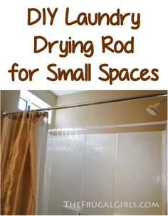 DIY: Laundry Drying Rod for Small Spaces