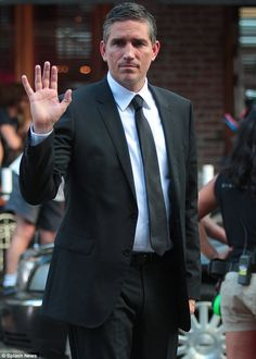 He's back: Jim Caviezel and Paloma Guzm·n on the Person of Interest set in the Meatpacking District New York